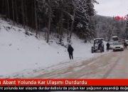 Bolu Abant Yolunda Kar Ulaşımı Durdurdu